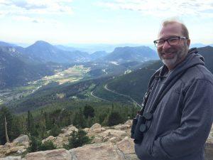 Chuck at Rainbow Curve, Rocky Mountain NP